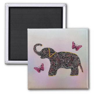 Imán exótico del elefante de la joya