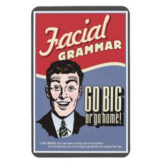 Imán facial de la gramática del ASL
