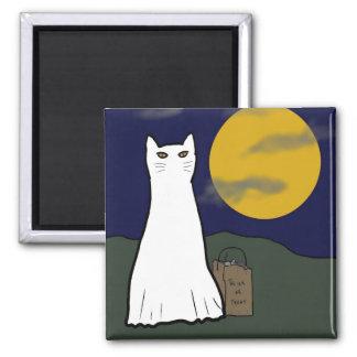 Imán fantasmagórico del gatito del truco o de la i