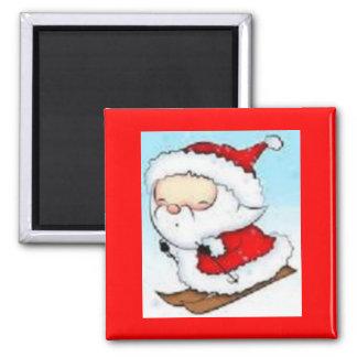 """imán """"felices Navidad"""" Papá Noel"""