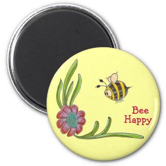 Imán feliz de la abeja