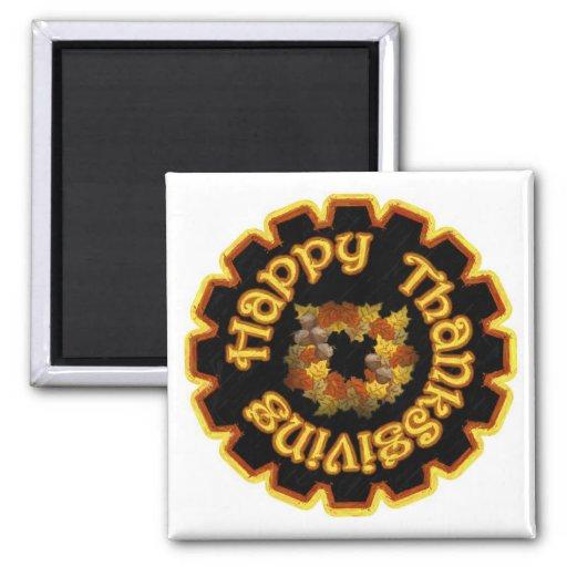 Imán feliz de la acción de gracias