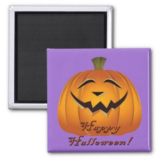 Imán feliz de la cara de la calabaza de Halloween