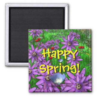 Imán feliz de la primavera v2