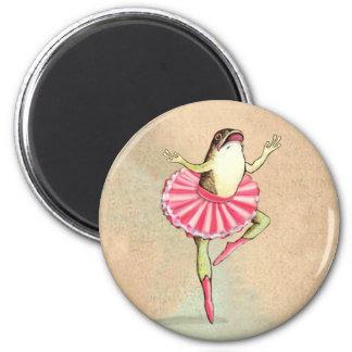 Imán feliz de la rana de la bailarina del baile