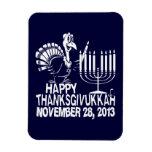 Imán feliz de Thanksgivukkah Jánuca Thankgiving