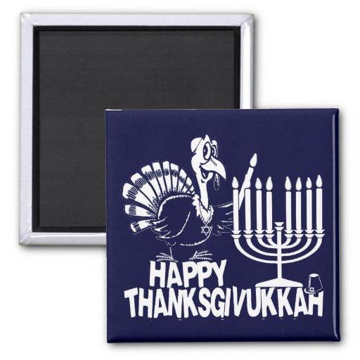 Imán feliz de Thanksgivukkah Thankgiving Jánuca