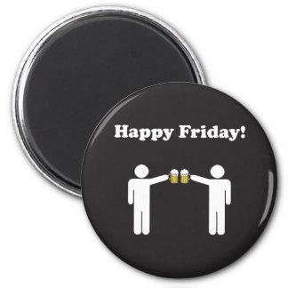 Imán feliz de viernes