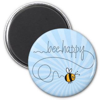 imán feliz del rastro de la abeja