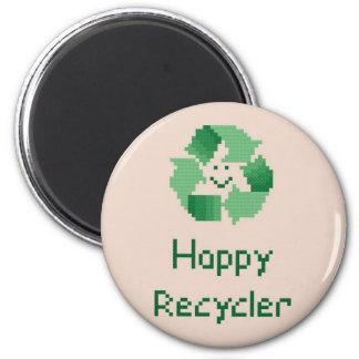 Imán feliz del reciclador