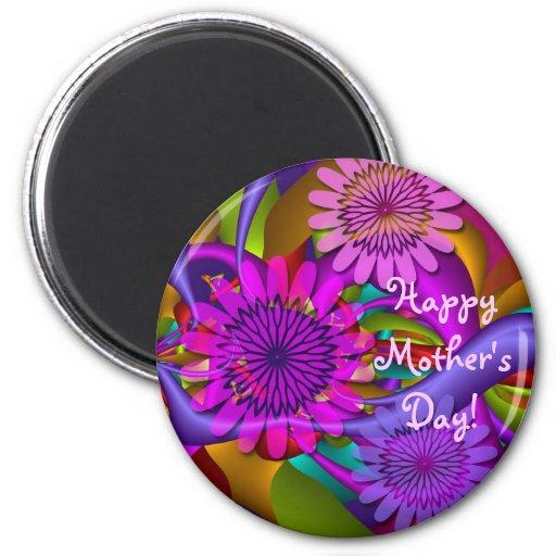 Imán feliz floral del día de madre
