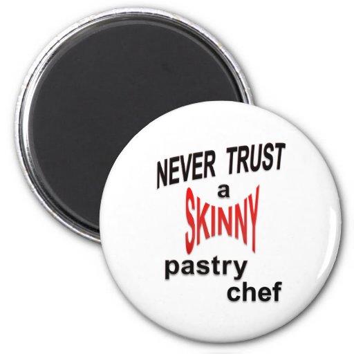 Imán flaco del chef de repostería