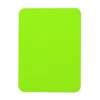 Imán flexible con el fondo chartreuse