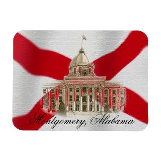 Imán flexible de la Capital del Estado de Alabama