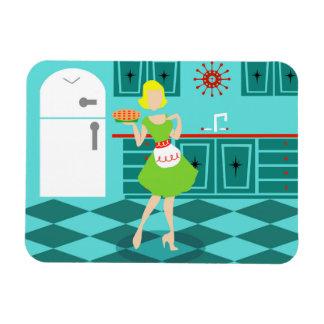 Imán flexible de la cocina retra