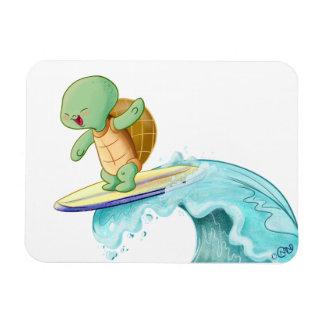 Imán flexible de la foto de Kawaii de la tortuga