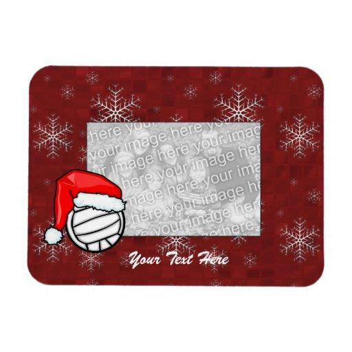 Imán flexible de la foto - voleibol de Santa