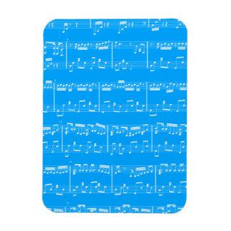 Imán flexible de la partitura azul