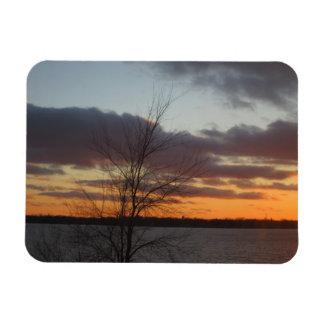 Imán flexible de la puesta del sol del lago
