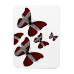 Imán flexible de las mariposas danesas