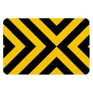 Imán flexible de los galones amarillos y negros
