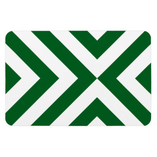 Imán flexible de los galones verdes y blancos