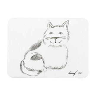 Imán flexible del bosquejo del gatito