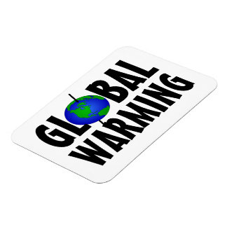 Imán flexible del calentamiento del planeta