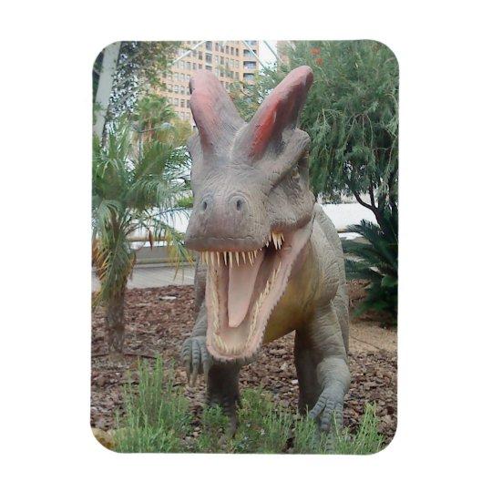 Imán flexible del dinosaurio del Dilophosaurus