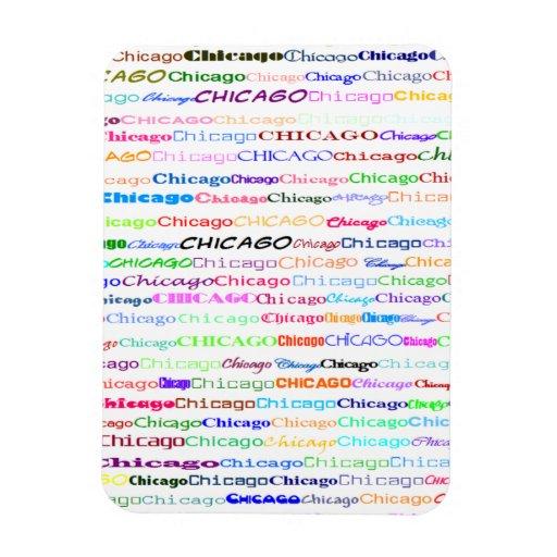 Imán flexible del diseño II del texto de Chicago