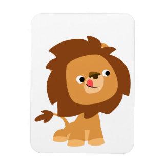 Imán flexible del león codicioso lindo del dibujo