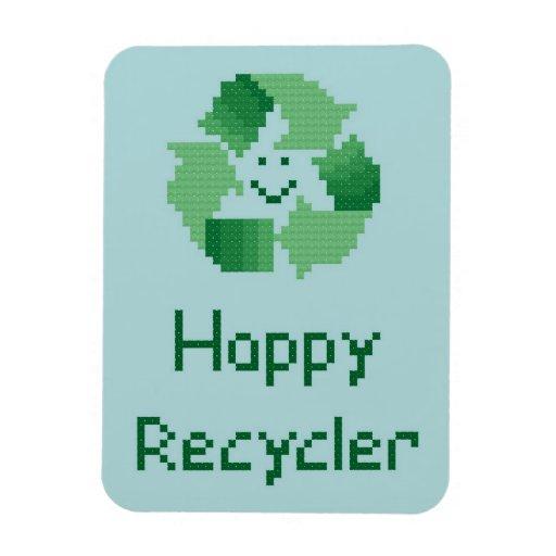 Imán flexible del reciclador feliz
