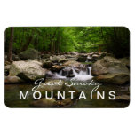 Imán flexible del río ahumado de las montañas