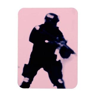 Imán flexible del soldado rosado