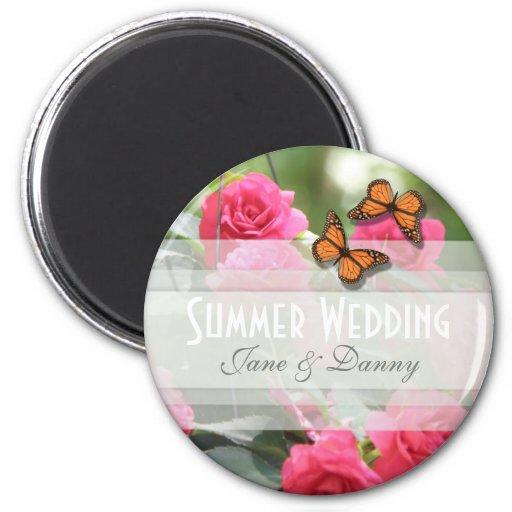 Imán floral del boda