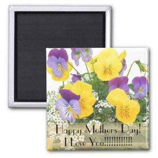 Imán floral del día de madres