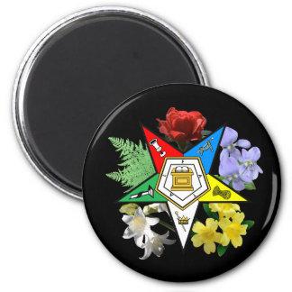 Imán floral del emblema de la estrella del este