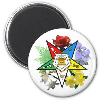 Imán floral del emblema de OES