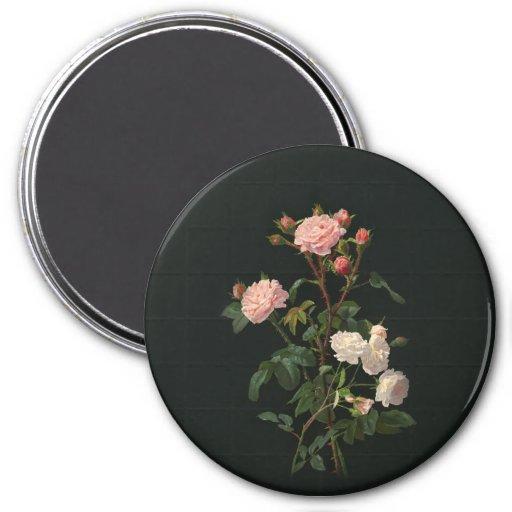 Imán floral del vintage