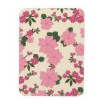 Imán floral rosado de Flexi del vintage