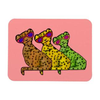 Imán fresco del premio de los gatos del guepardo