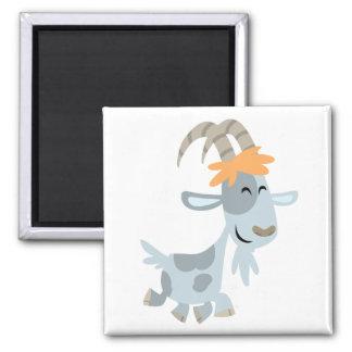 Imán fresco lindo de la cabra del dibujo animado