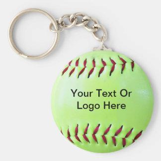 Imán Fundraising del softball, llavero, botón Llavero Redondo Tipo Pin