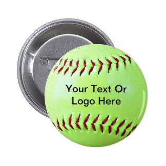 Imán Fundraising del softball, llavero, botón Pin Redondo De 2 Pulgadas