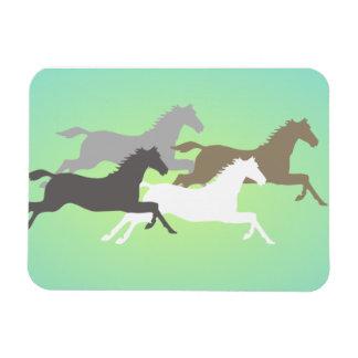 Imán galopante de los caballos