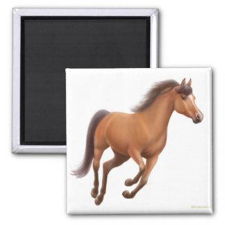 Imán galopante del caballo de bahía