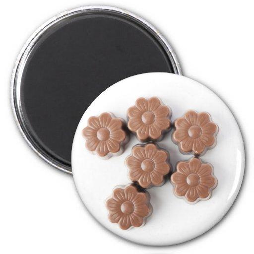 Imán gastrónomo del chocolate con leche