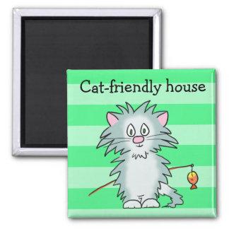 imán Gato-amistoso de la casa