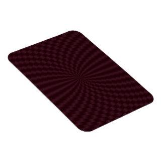Imán geométrico de color rojo oscuro de la foto de