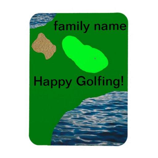 imán golfing con apellido